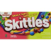 Skittles Sweet & Sours Candy 56g Box of 24