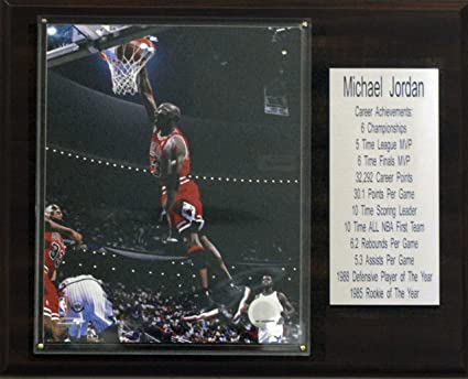 9e457a8db6f Image Unavailable. Image not available for. Color  NBA Michael Jordan  Chicago Bulls Stat Plaque