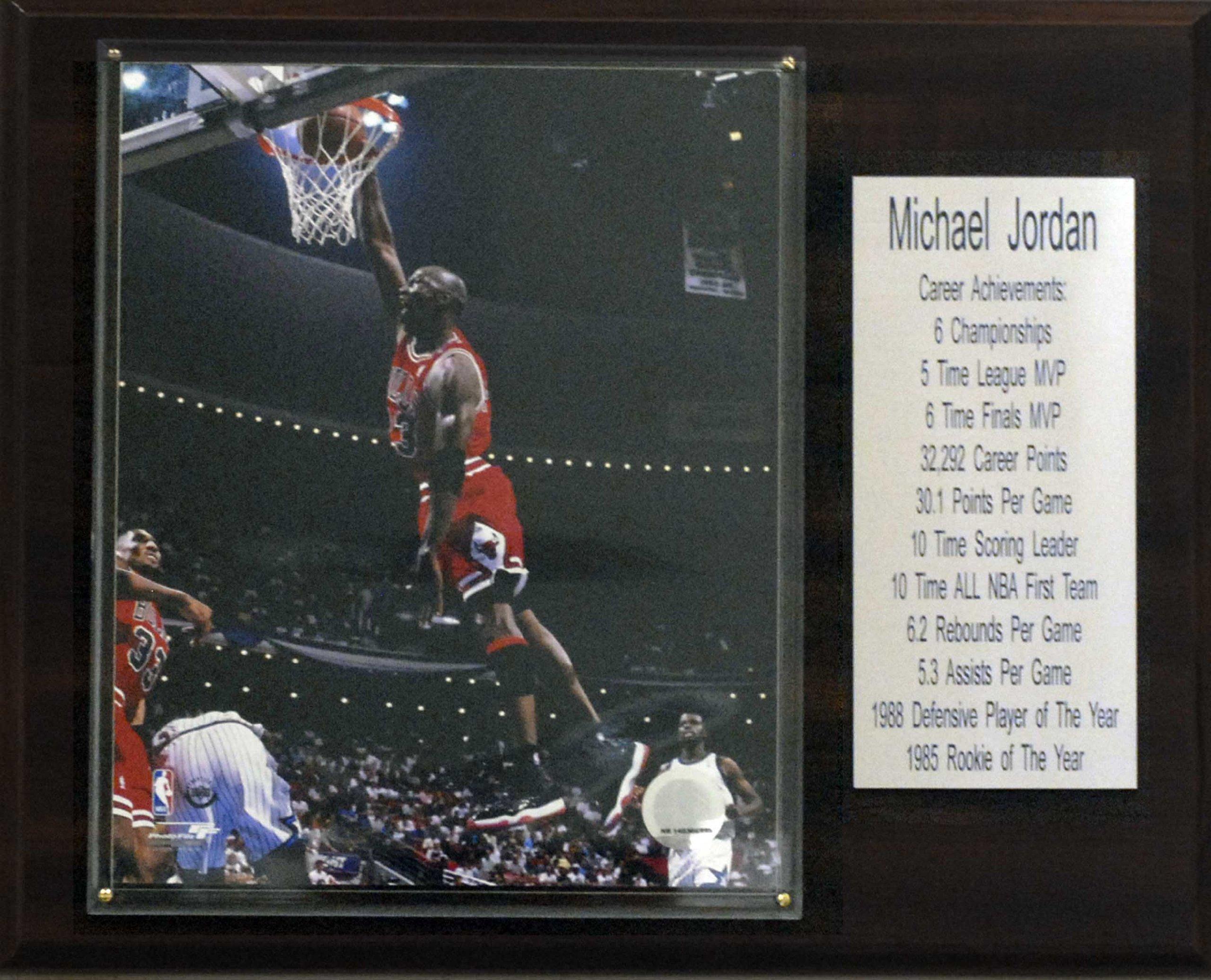 NBA Michael Jordan Chicago Bulls Stat Plaque by C&I Collectables