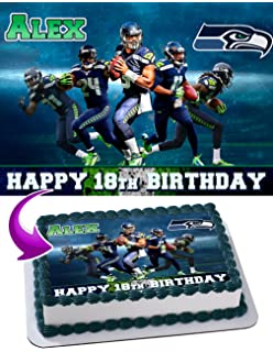 Seattle Seahawks Edible Image Cake Topper Personalized Icing Sugar Paper A4 Sheet Frosting Photo