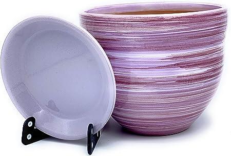 rund /ø 43 cm ProHome 34023 Pflanzk/übel-Untersetzer Giardino Farbe: terrakotta Kunststoff