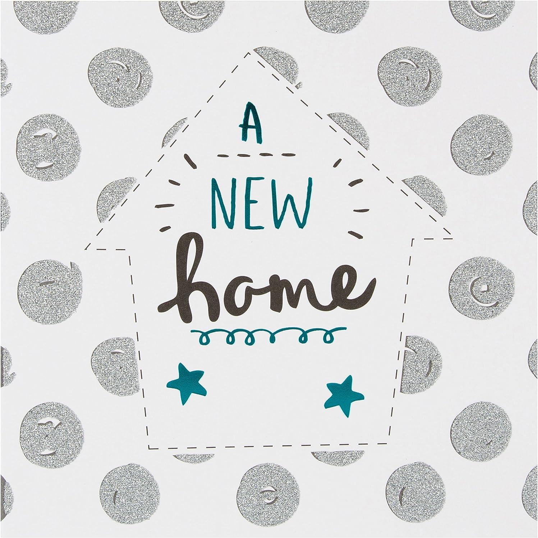 Taille M New Home Carte pour nouvelle maison avec inscription en anglais Congratulations Hallmark