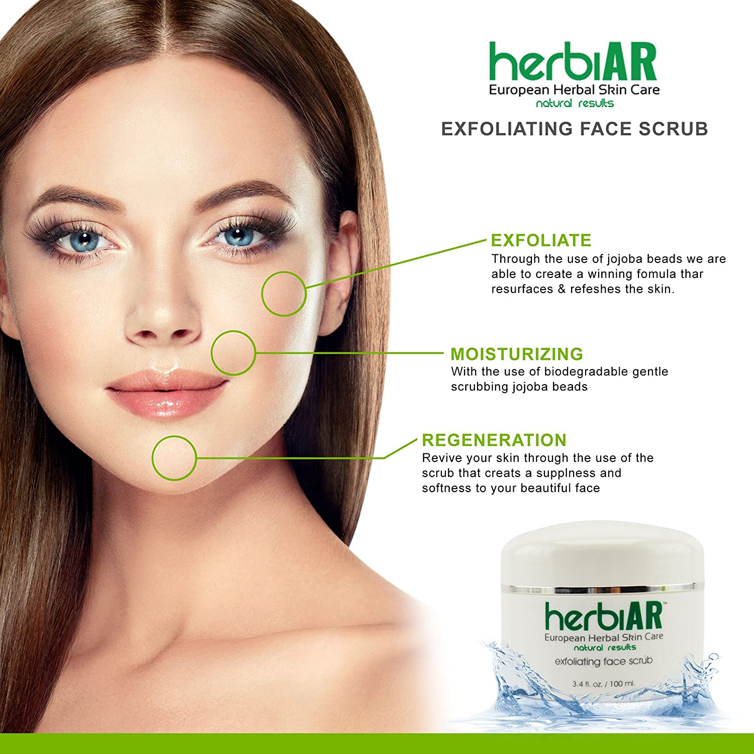Amazon herbiar exfoliating great face scrub natural amazon herbiar exfoliating great face scrub natural organic scrub for deep cleansing minimizer reduce wrinkles acne scars blackhead remover ccuart Choice Image