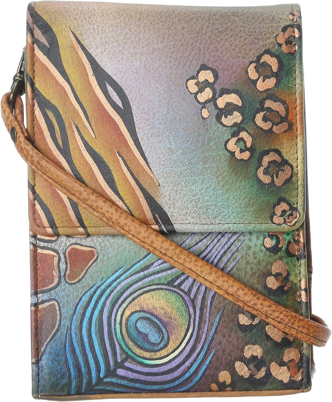 Anuschka Women's Genuine Leather Mini Sling Organizer Bag | Cross Body/ Clutch/ Shoulder Bag | Chic & Stylish Organizer
