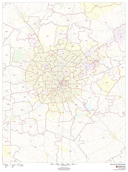 Amazon.: Bexar County, Texas Zip Codes   36