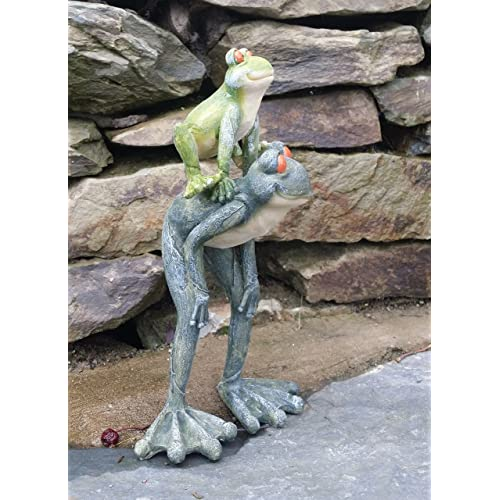 Garden Frog Stone Effect Home Patio Statue Ornament Indoor And Outdoor Gift