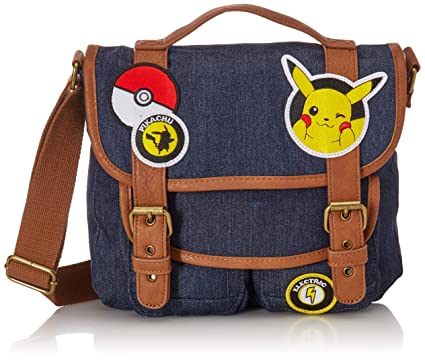 Loungefly x Pokemon Pikachu Patches Messenger Bag (One Size, Multi)
