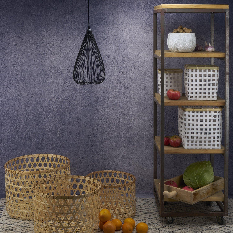 Black Velvet Studio 3/áK/örbe-Set/Vietnam/,/Color/nat/ürlich./Kreisf/örmige,/Licht/und/frisches/Design./22x59x59/cm.