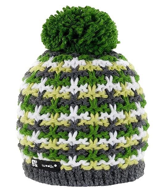 b15d130247d Beanie Hat Wool Knitted NORDIC with Ponpon Men s Women s Winter Warm  Fashion SKI Snowboard Hats (Batty 38) MFAZ Morefaz Ltd  Amazon.co.uk   Clothing