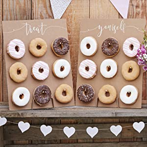 Ginger Ray Natural Kraft Finish Donut Wall Wedding Favours Rustic Country