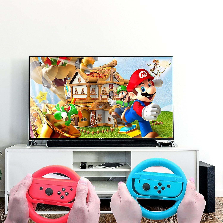 Nintendo Switch,Mario kart 8 Deluxe Volante Gamepad Volante Juego Volante Mount Pack de 2: Amazon.es: Videojuegos