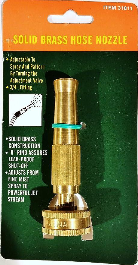 Harbor Freight Tools 4u0026quot; Brass Garden Hose Nozzle