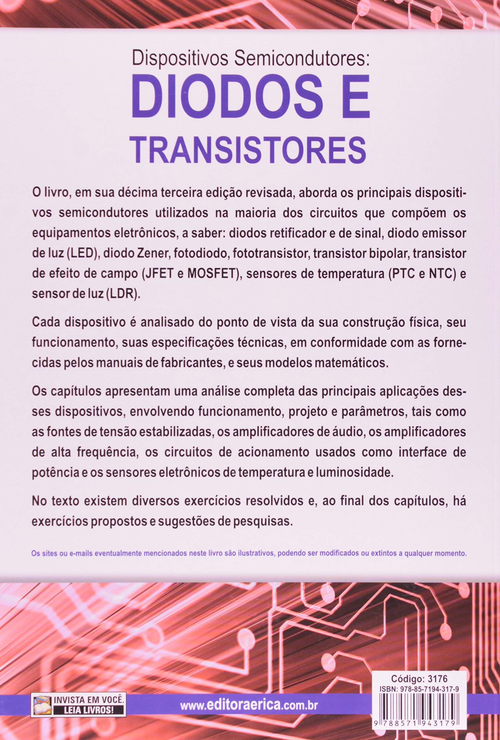 Dispositivos Semicondutores. Diodos e Transistores: Eduardo Cesar A. Cruz e Salomão Choueri Júnior Angelo Eduardo B. Marques: 9788571943179: Amazon.com: ...