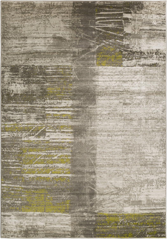 Amazon Com Albertha Gray Olive Green And White Modern Area Rug 2 2 X 3 Furniture Decor