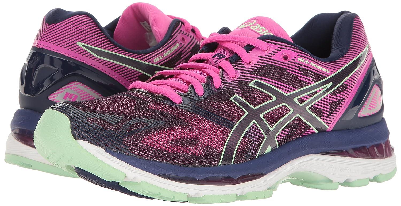 ASICS Women's Gel-Nimbus 19 Running US|Indigo Shoe B01GST33J6 6.5 B(M) US|Indigo Running Blue/Paradise Green/Pink Glow d87354