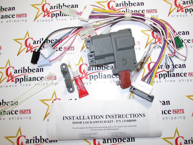 137523400 Washer Door Lock Assembly Genuine Original Equipment Manufacturer (OEM) Part 91B2ue2fuULSL1500_