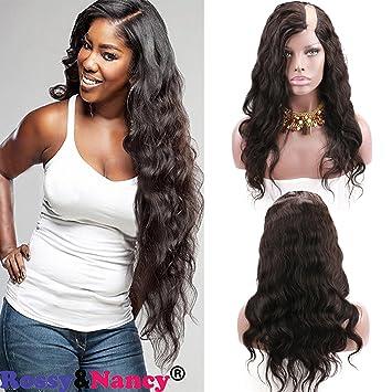 f138e7119 Rossy&Nancy 7A U Part Wig 100% Brazilian Remy Human Hair Body Wavy Free Part  Natural