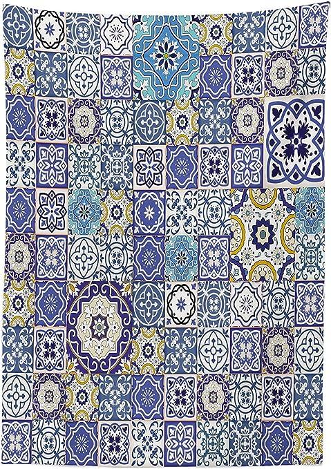 Yeuss Mantel Azul Rich Collection de Azulejos Marroquíes Antiguos ...