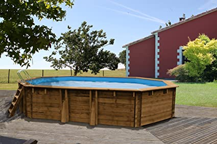 Gre - Piscina de Madera de 637 x 412 x 133 cm con Filtro de Arena ...