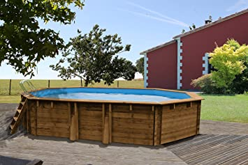 Gre - Piscina de Madera de 637 x 412 x 133 cm con Filtro de Arena: Amazon.es: Juguetes y juegos