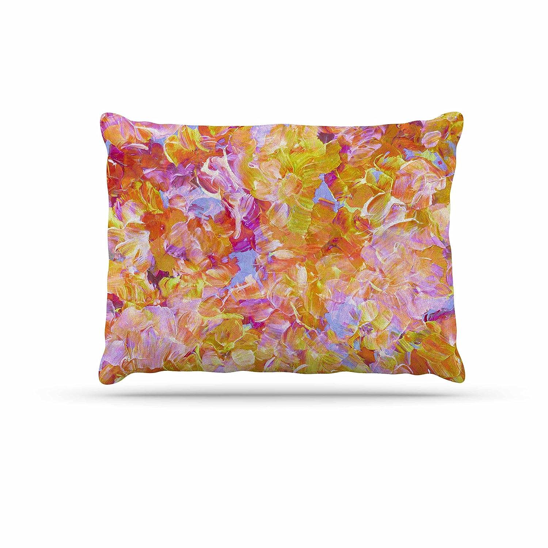 KESS InHouse EBI Emporium Bloom on  Yellow orange Pink orange Dog Bed, 30  x 40