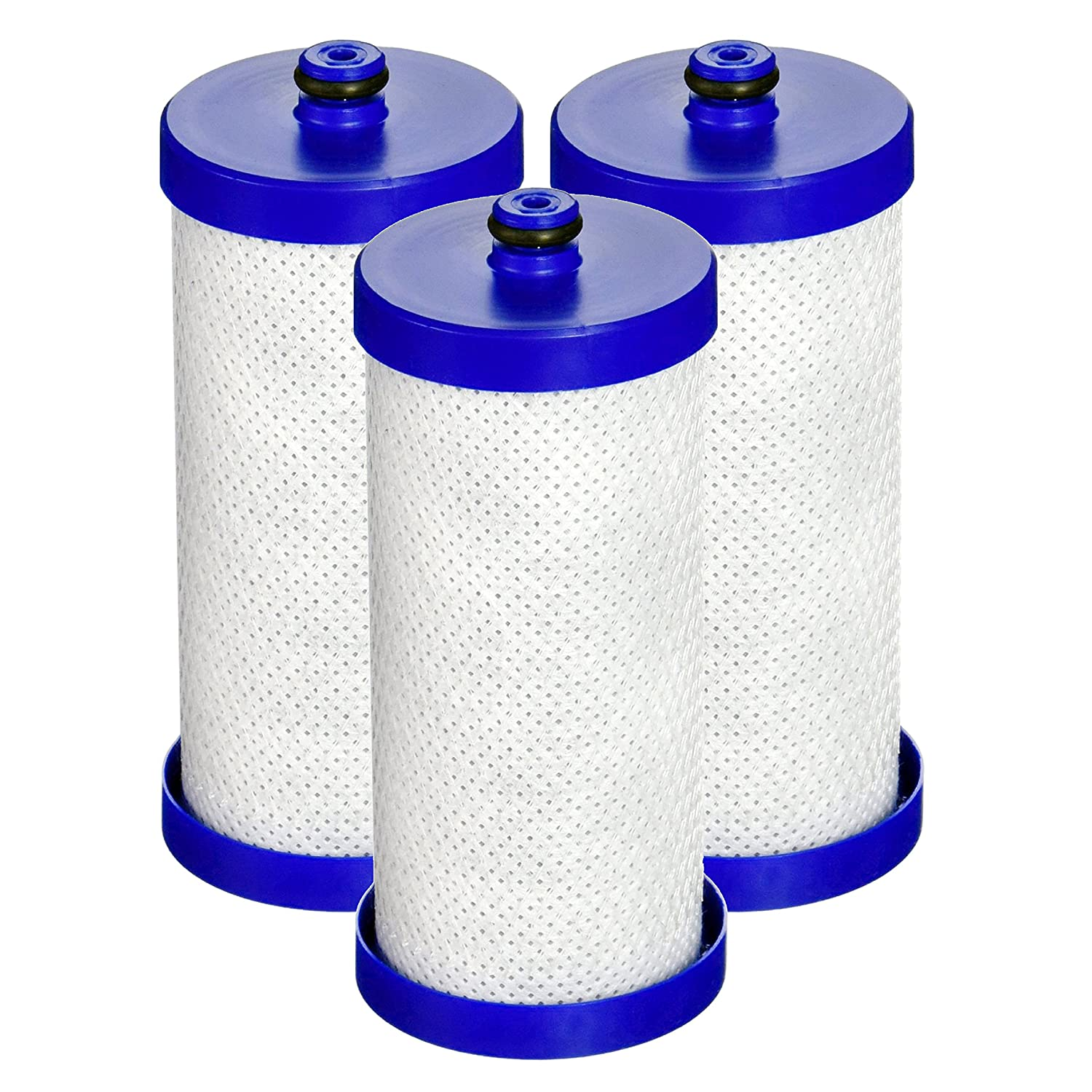 Waterdrop Refrigerator Water Filter, Compatible with WF1CB, WFCB, RG100, NGRG2000, WF284, 9910, 469906, 469910, Pack of 3