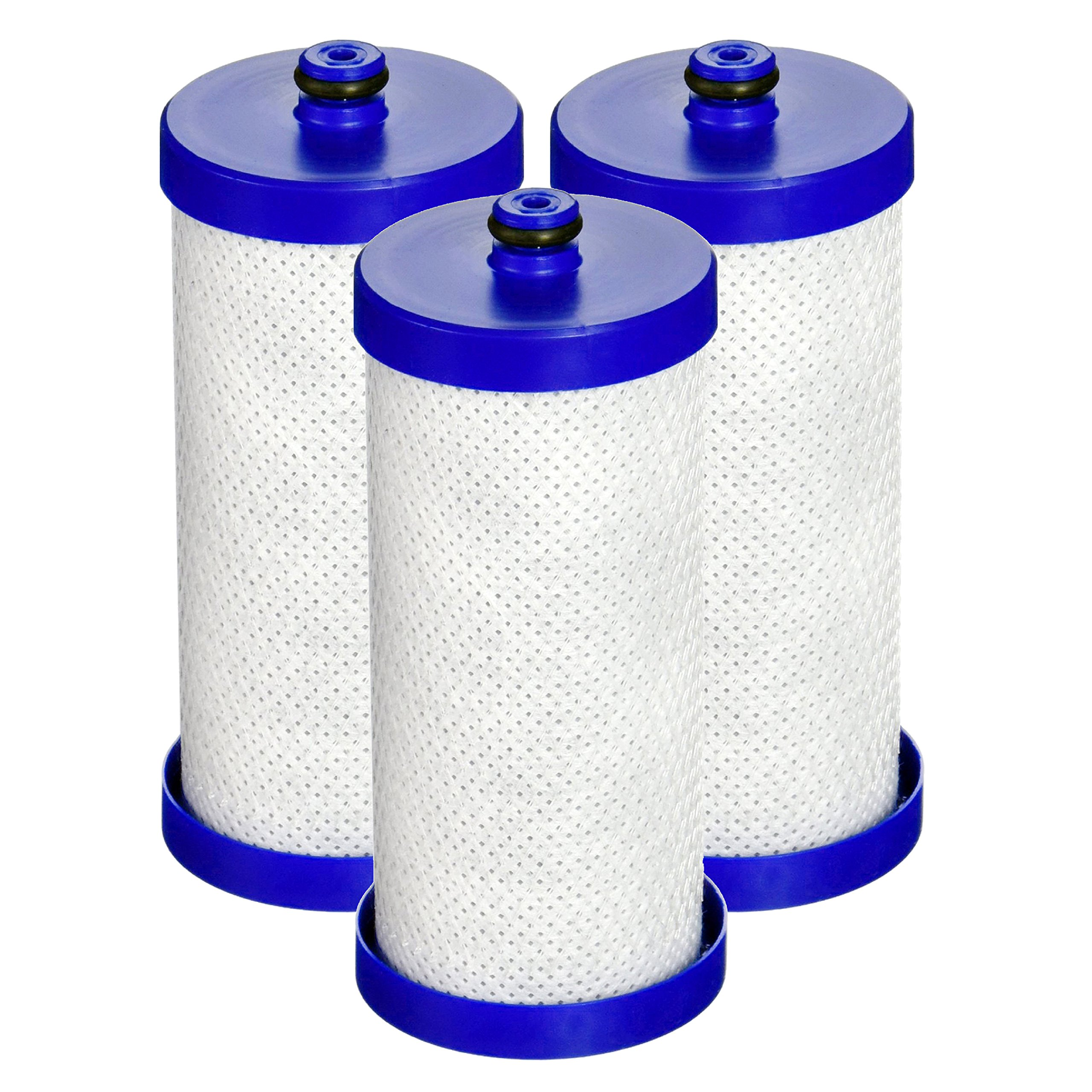 Waterdrop Replacement Refrigerator Water Filter, Compatible with WF1CB, WFCB, RG100, NGRG2000, WF284, 9910, 469906, 469910 (3 Pack)
