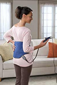 Sunbeam Body Shaped Heating Pad with Hot and Cold Pack