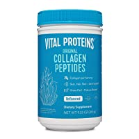 Vital Proteins Collagen Peptides Powder Supplement (Type I, III) for Skin Hair Nail Joint - Hydrolyzed Collagen - Non-GMO - Dairy and Gluten Free - 20g per Serving - Unflavored 9.33 oz Canister