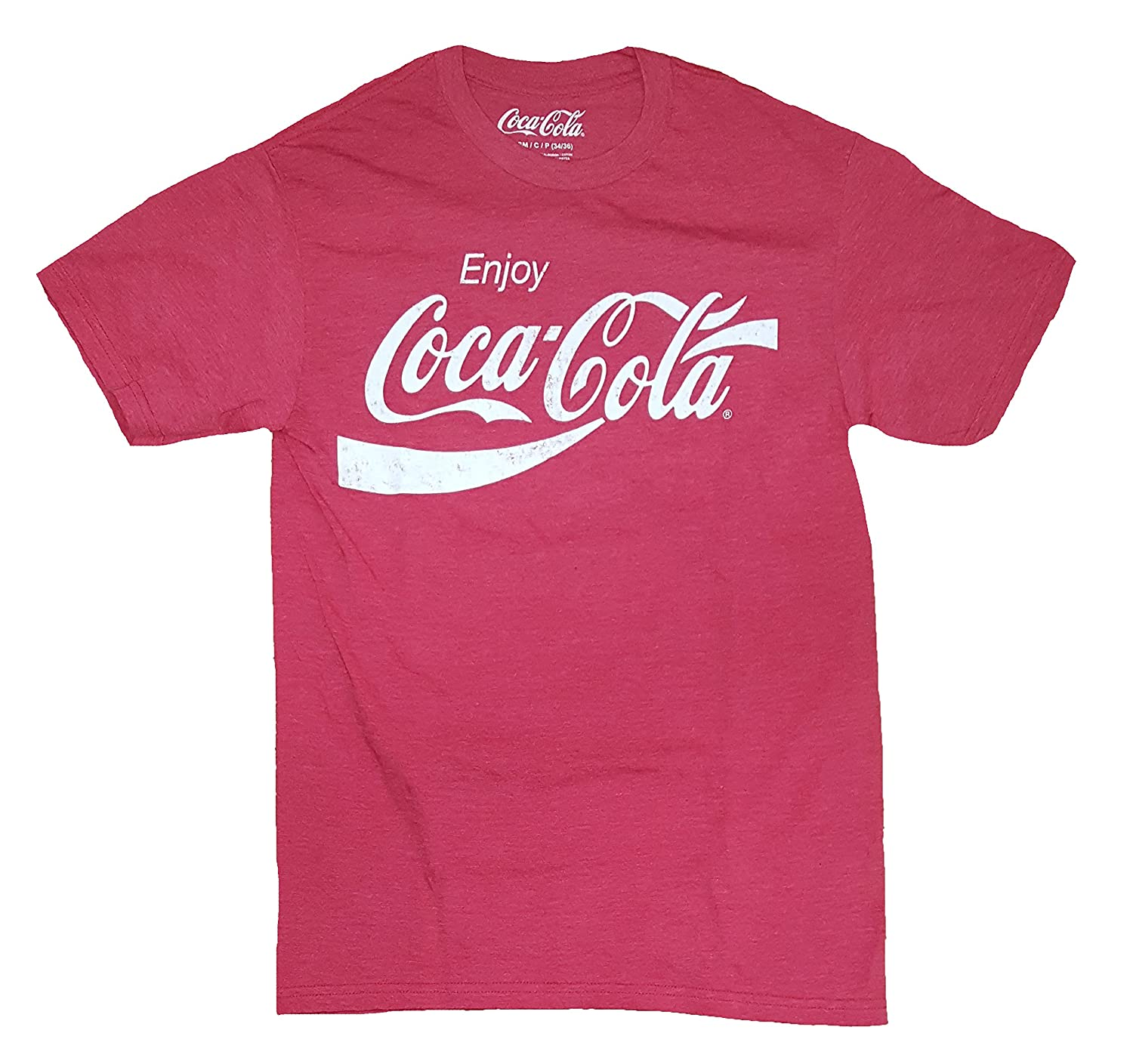 Coca-Cola Mens Enjoy Classic Logo Vintage Look T-shirt Mad Engine Inc. K0001MS3