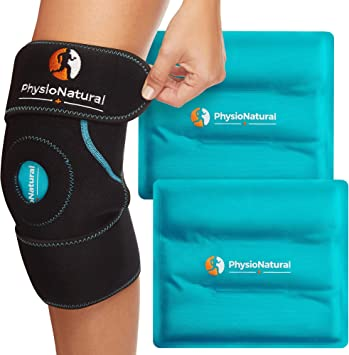 PhysioNatural Knee Ice Pack Wrap