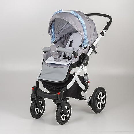Cochecito para bebé 3 en 1. Silla + Capazo + Grupo 0. Mundi Bebé Barletta. Carrito con marco de aluminio.: Amazon.es: Bebé