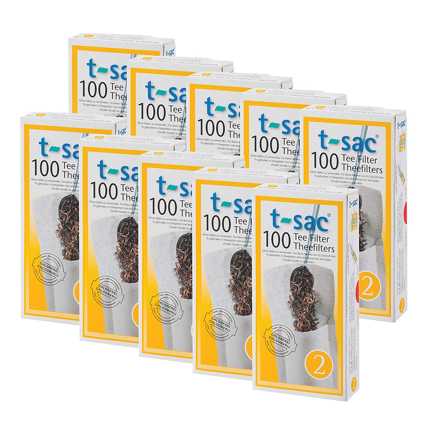1-Cup Capacity T-Sac Tea Filter Bags Number 1-Size Disposable Tea Infuser Set of 1,000 by T-Sac