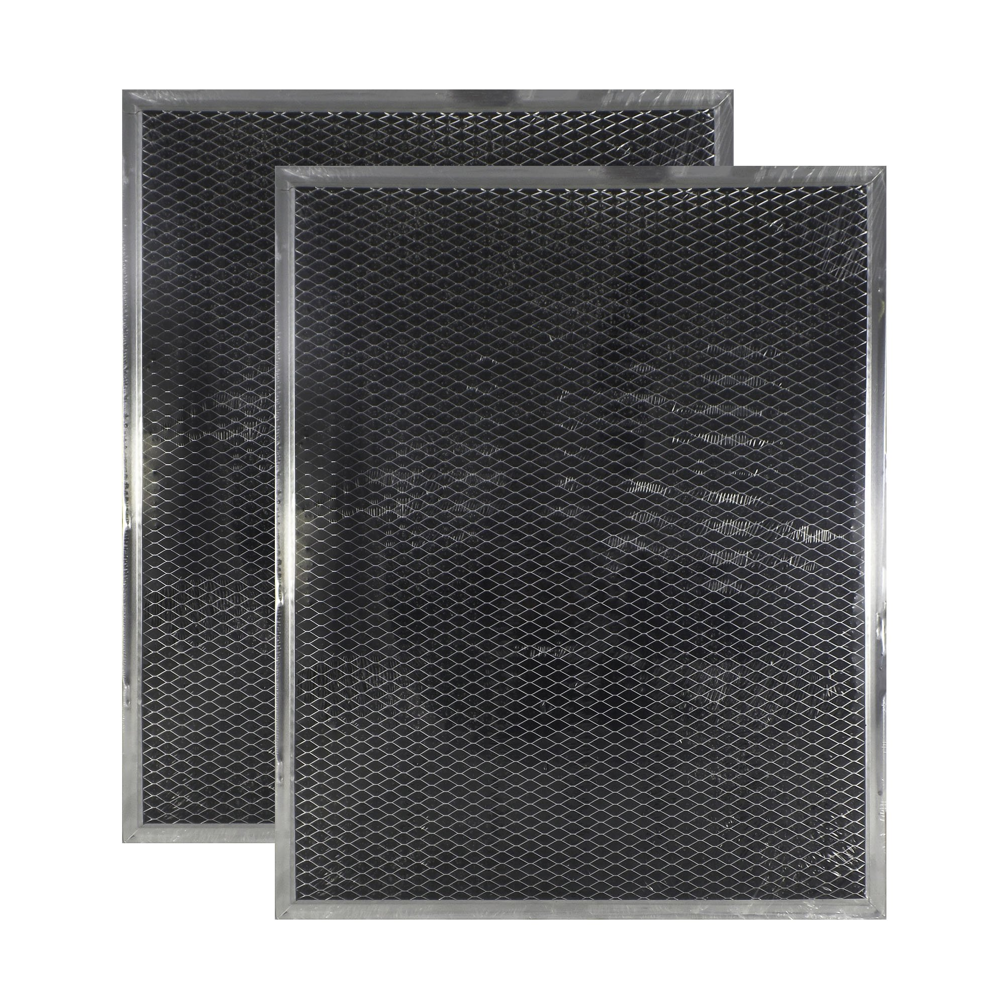 2-Pack Air Filter Factory Compatible Replacement for Broan BPSF30 99010308 QS WS Non-Ducted Measures 10.82 Inches Wide X 13.31 Inches Length X .093 Inches Thick Range Hood Charcoal Carbon Filters