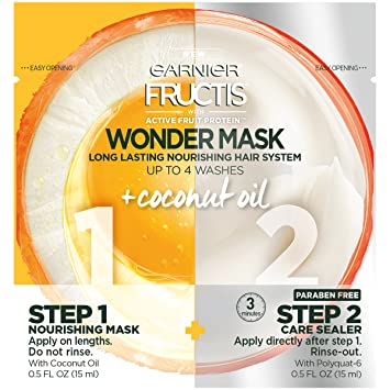 Amazon Com Garnier Fructis Coconut Wonder Mask Treatment 1 Fl Oz