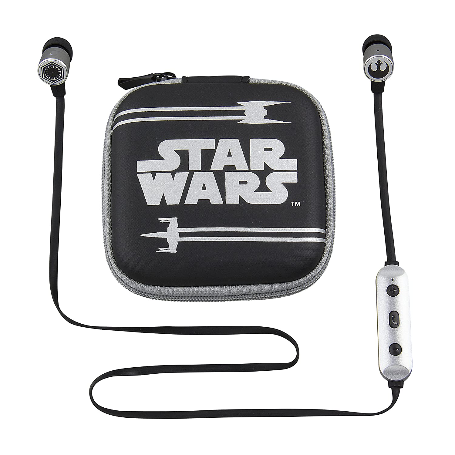 Star Wars Bluetooth Wireless Earbuds and Travel Case with Hands Free Calling and Adjustable Volume Control