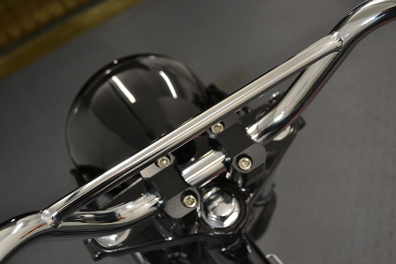 Chrome Motorbike Handlebars for Monkey Bike Pit Bike Scrambler 22mm 7//8 with 4.5 Rise