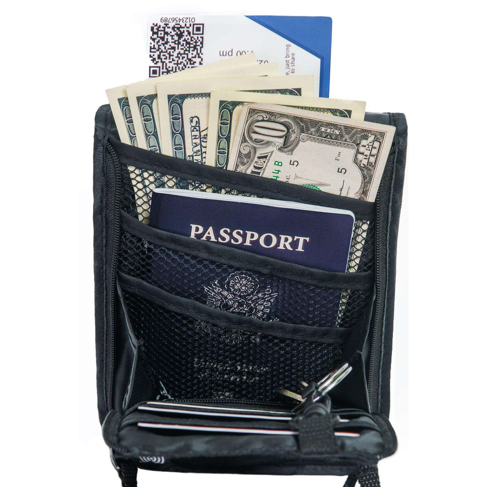 Travel Wallet-holder-Neck Pouch-Anti-Theft-RFID Blocking-Traveling Accessories