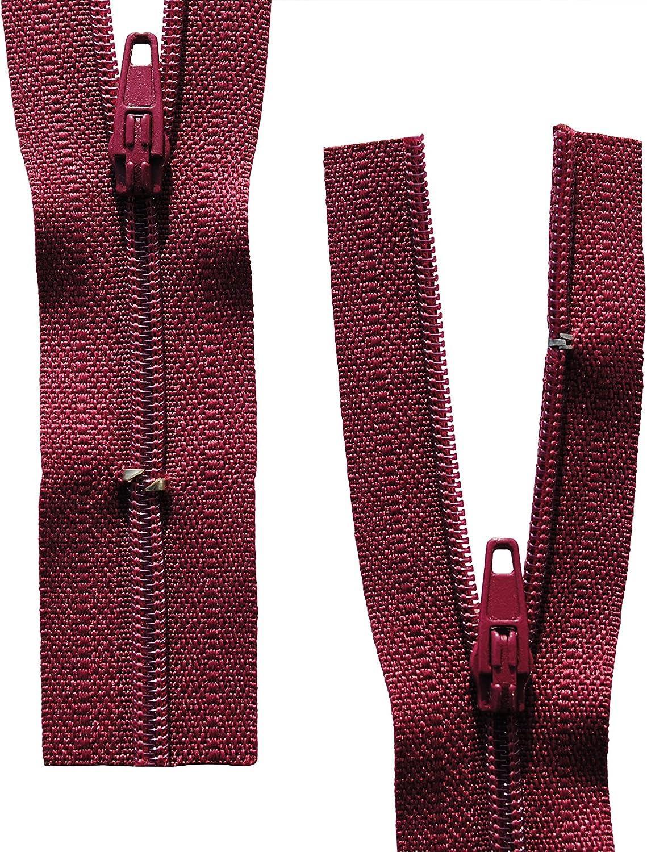 Reißverschluss Kopfkissen Bettwäsche schließbare Länge 40 cm bordeaux