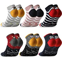 MOCOCITO Calcetines Tobilleros Mujer Calcetines Mujer Calcetines Divertidos 6/12 Pares Calcetines Estampados Calcetines…