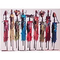 Arte Deko Afrika Kabilesi Tek Parça Kanvas Tablo, 50x70