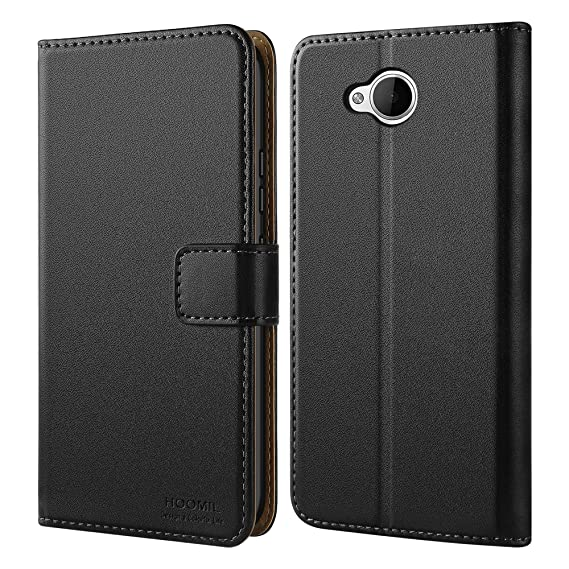 new concept b658b 851b5 HOOMIL Microsoft Lumia 650 Case Premium Leather Case for Microsoft Lumia  650 Phone Wallet Case Cover (Black)