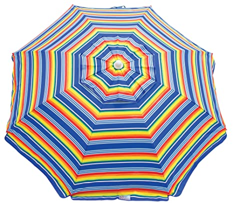 f28a8ad2a9 Amazon.com : RIO BEACH 7-Foot UPF 50+ Beach Umbrella with Built-in ...