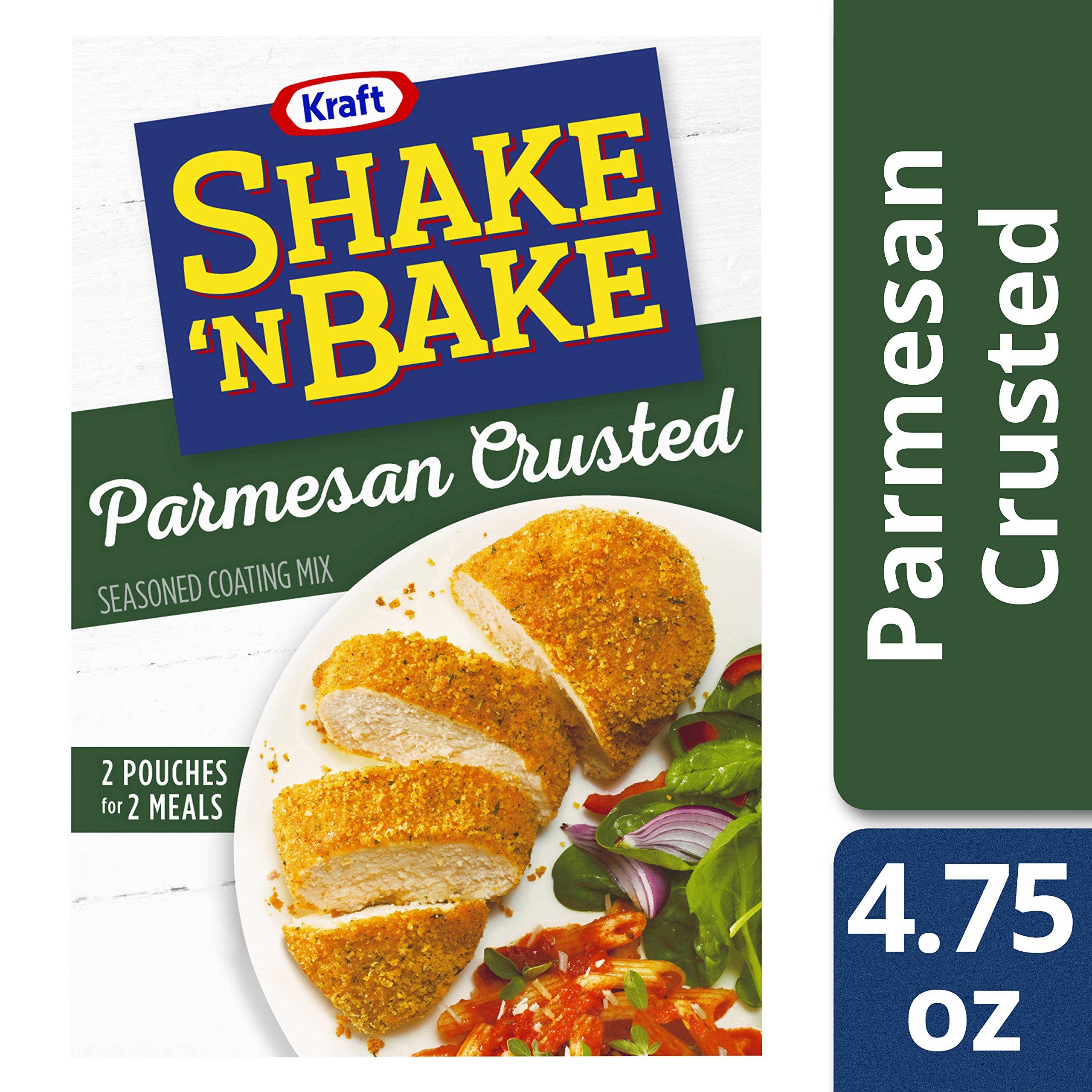 Kraft Shake N Bake Seasoned Coating Mix Box, Parmesan Crusted, 4.75 Ounce (Pack of 8)