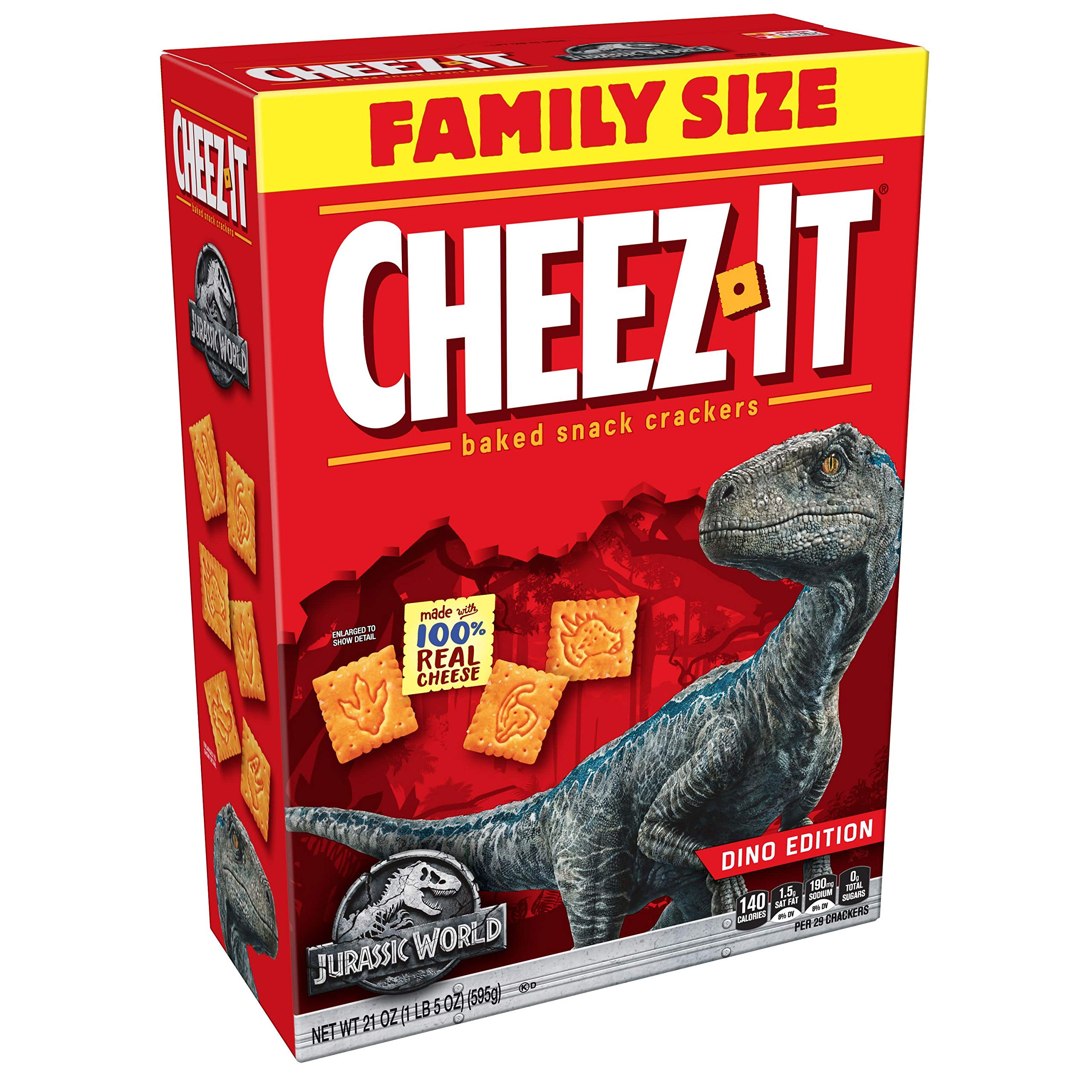 Cheez-It Despicable Me 3 'Family Size' (21-Ounce Box)(Pack of 12) by Cheez-It (Image #1)