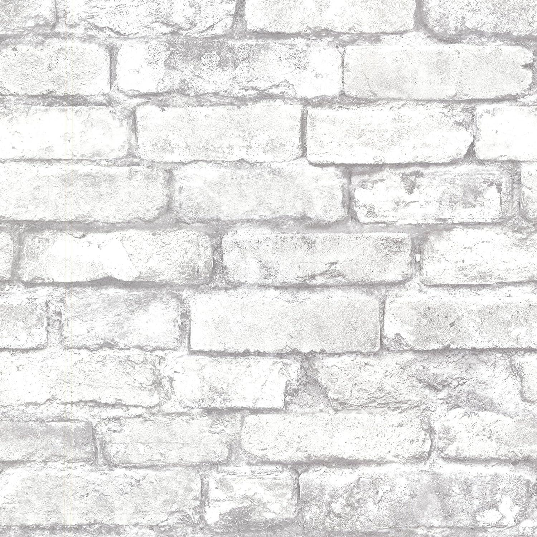 Beacon House 2604 21261 Brickwork Exposed Brick Texture Wallpaper Light Grey