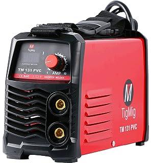 TM 131 PVC - Soldadora Inverter MMA, electrodo de 130 A, maletín de PVC