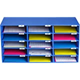 AdirOffice File Organizer Classroom - Office - Home - Blue (15 Slots, Blue)
