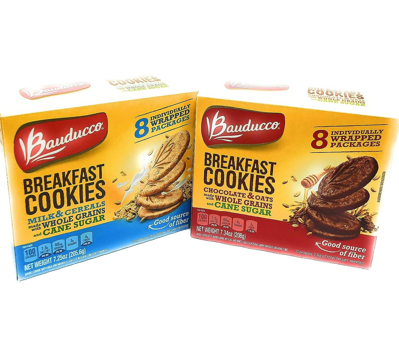 Amazon.com: Bauducco Breakfast Cookies Variety 1 Each, Milk ...