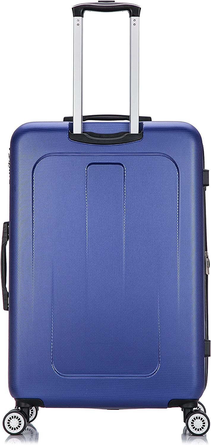 Crypto Collection Lightweight Hardside Spinner 28 inches Blue DUKAP Luggage Suitcases with Wheels